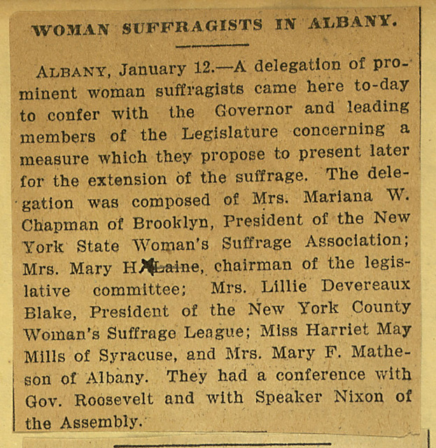 Women Suffragists in Albany