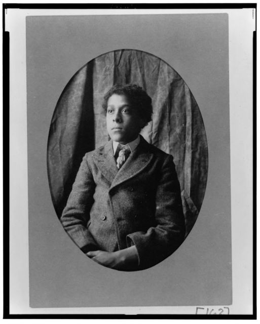 [Young African American man, half-length portrait, facing slightly left]