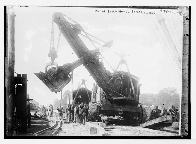 10 ton shovel, Stony Island, Michigan