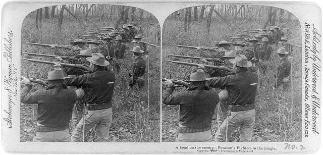 A bead on the enemy - Funston's fighters in the Jungle, Philippine Islands