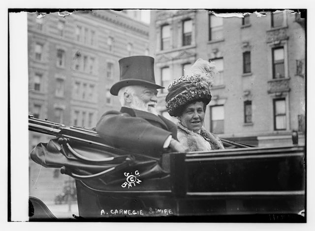 A. Carnegie and wife