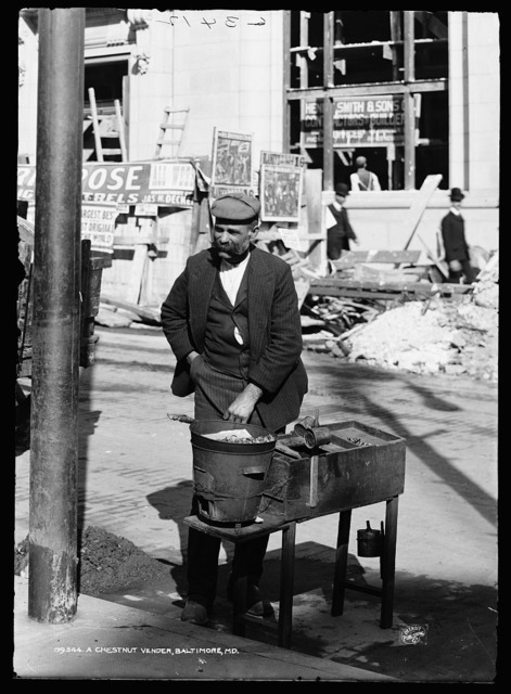 A chestnut vendor, Baltimore, Md.