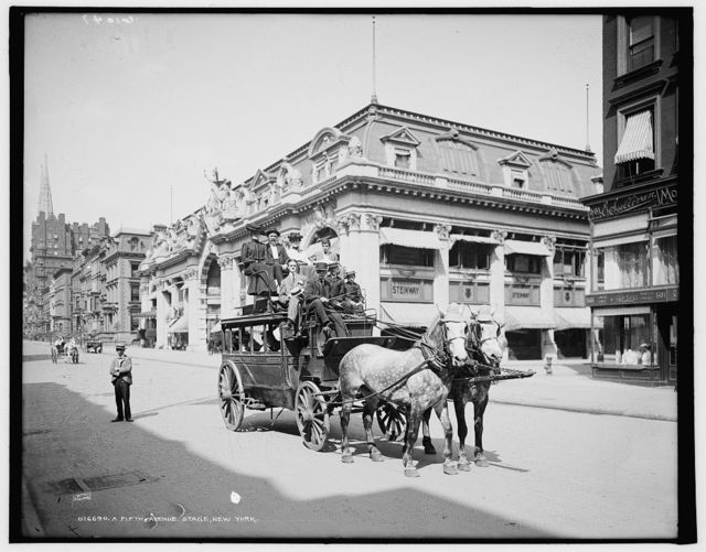 A Fifth Avenue stage, New York