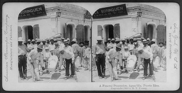 A funeral procession, Aguadilla, Puerto Rico