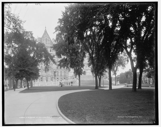 A Glimpse of the Capitol, Albany, N.Y.