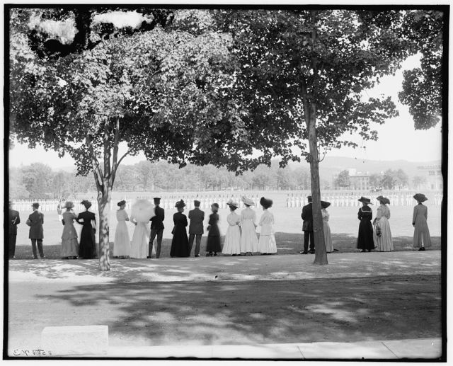 [A Glimpse of the parade grounds, West Point, N.Y.]
