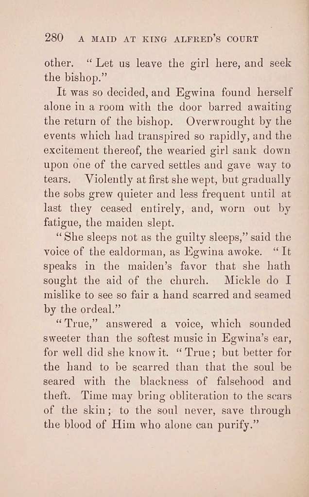 A maid at King Alfred's court;