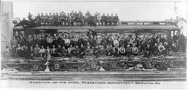 A portion of the steel passenger department, Berwick, PA.