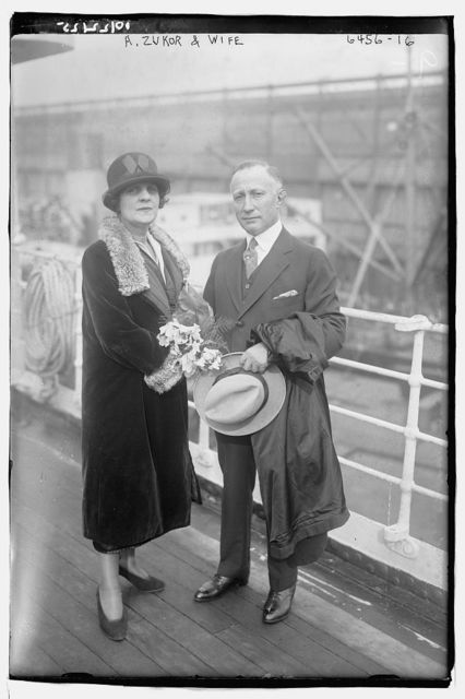 A. Zukor and wife