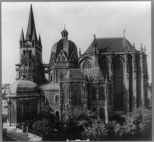 Aachen, Münster, Aeusseres, Südseite