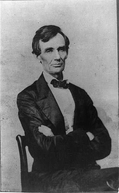 [Abraham Lincoln, candidate for U.S. president. Half-length portrait, seated, facing front]