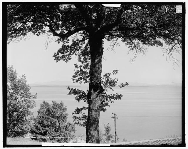 Across Lake Champlain from Tsombleau [i.e. Trembleau] Hall, Port Kent, N.Y.