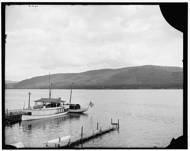 [Across the lake from Lake House (hotel) grounds, Lake George, N.Y.]
