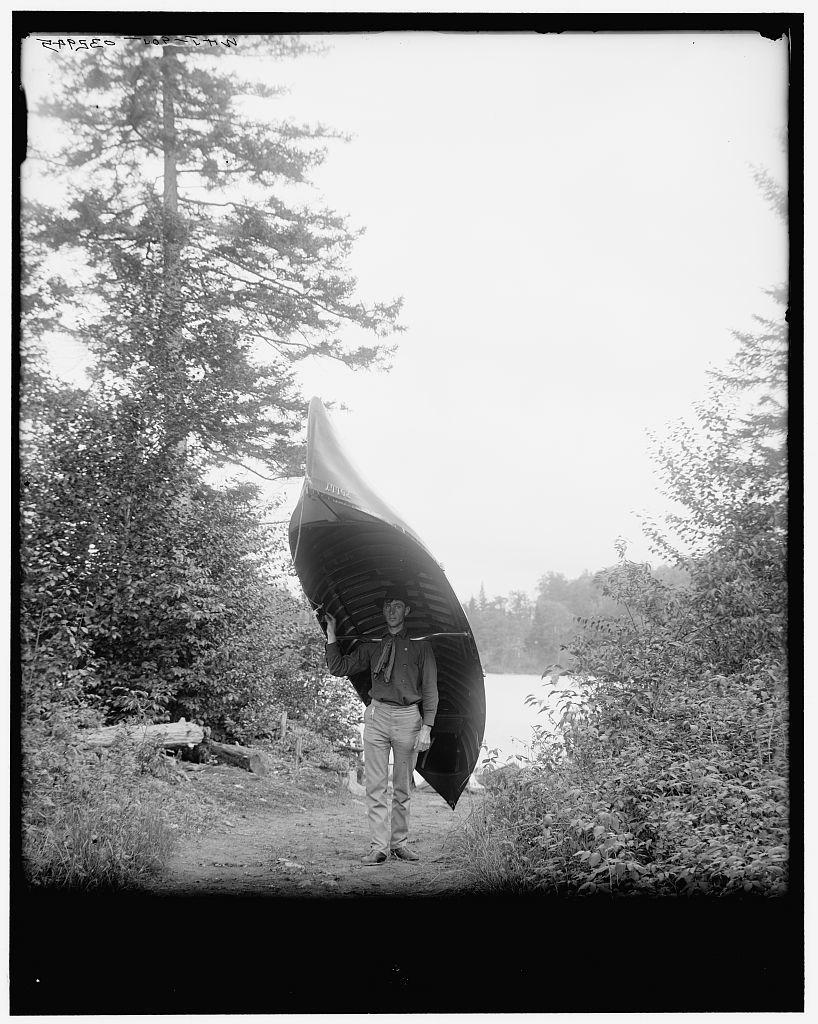 [Adirondack carry, Adirondacks, N.Y.]