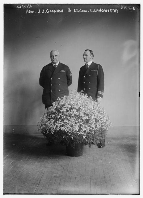 Adm. J.J. Glennon & Lt. Com. E. Langworthy