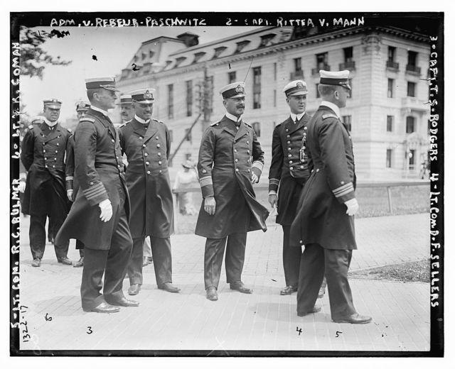 Adm. v. Rebeur-Paschwitz, Capt. Ritter v. Mann