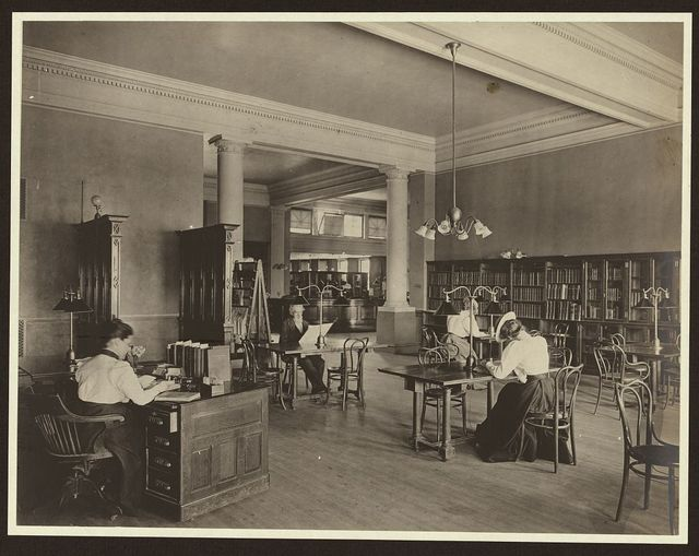 [Adult reading room, Carnegie library of Homestead, Munhall, Pennyslvania]