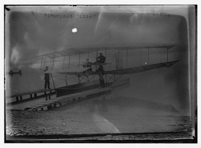 "Aeroplane ""Loon"" at pier"