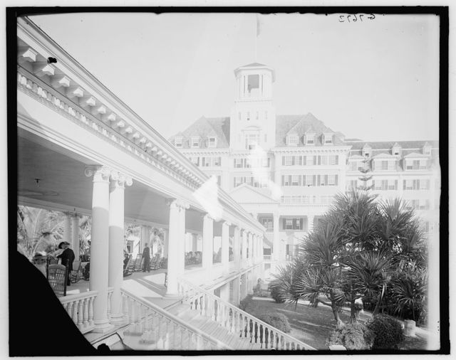 [Along the colonnade, Royal Poinciana, Palm Beach, Fla.]
