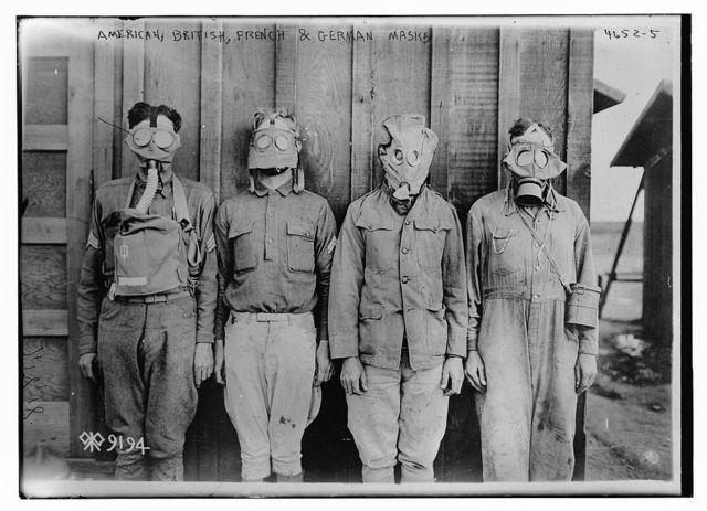 American, British, French, & German masks [gas]