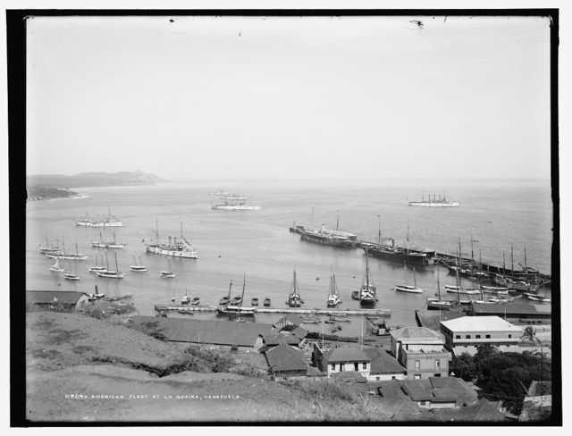 American fleet at La Guaira, Venezuela