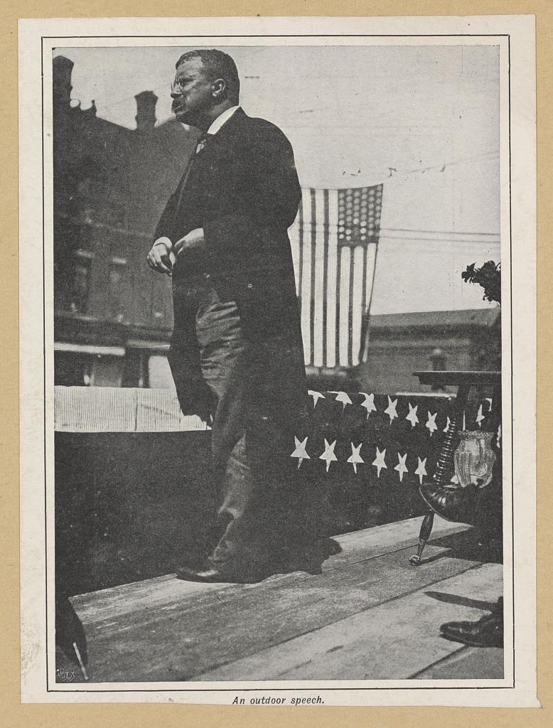An outdoor speech