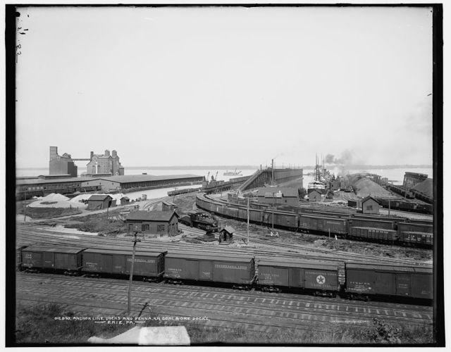 Anchor Line docks and Penna. R.R. [Pennsylvania Railroad] coal & ore docks, Erie, Pa.