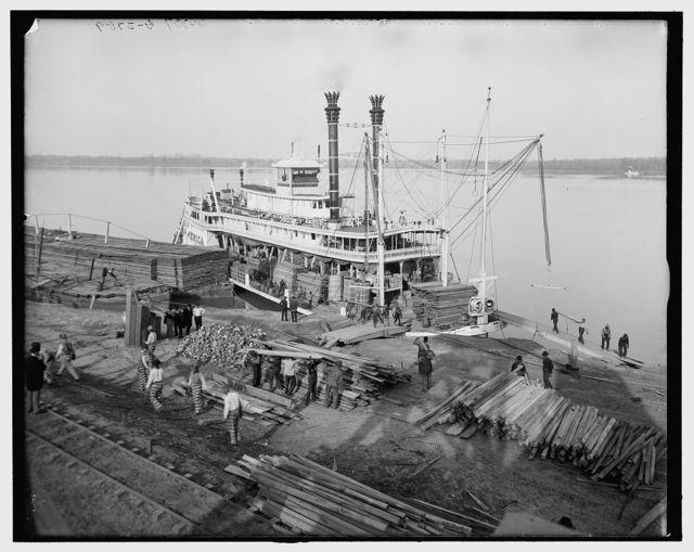 [Angola Landing, State Penitentiary farm, Mississippi River, La.]