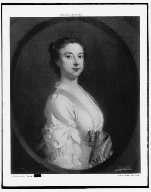 [Anne, Viscountess Irwin, half-length portrait]