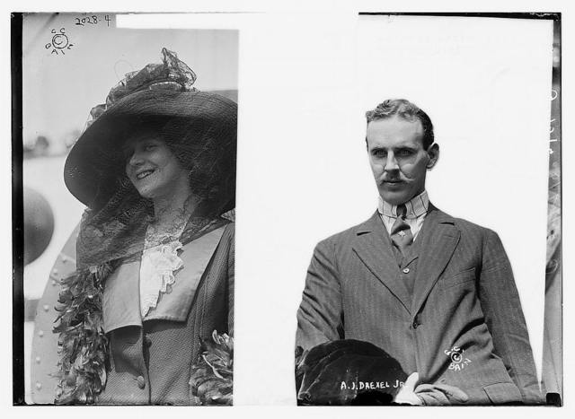 Anthony Drexel Jr. and wife
