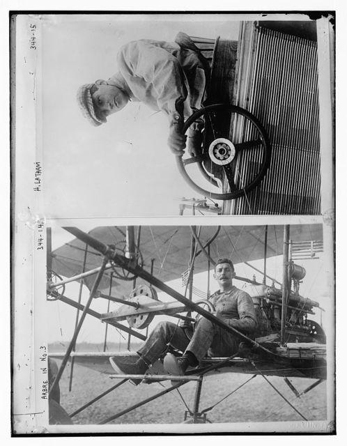 Arbre in #3 Biplane at Reims