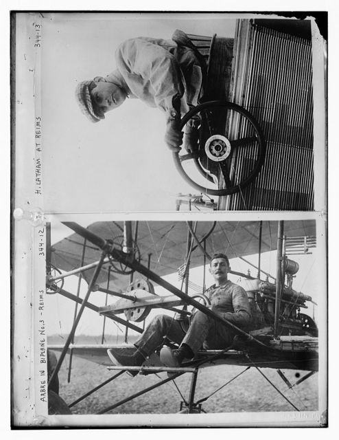 Arbre in Biplane at Reims