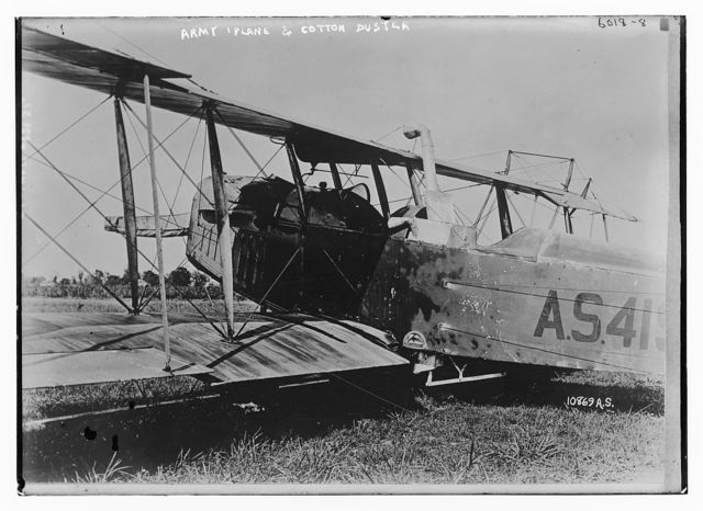 Army plane and Cotton Duster