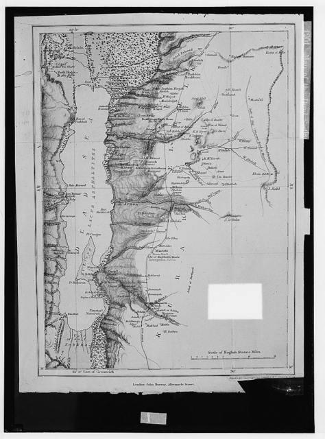 Around the Dead Sea. Map of the Dead Sea