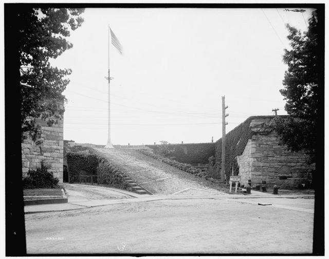 [Ascent to the flagstaff, Fort Monroe, Va.]