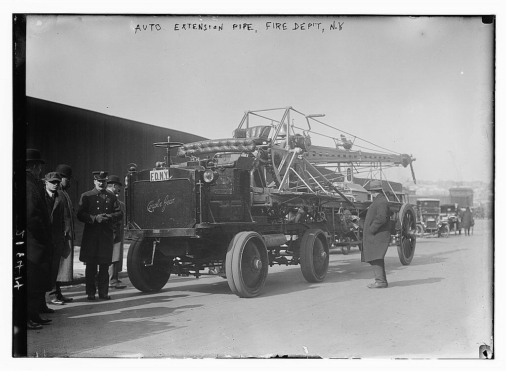 Auto extension pipe, Fire Department, N Y  | Library Of Congress