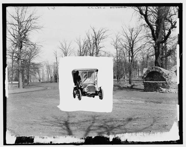[Automobile in park]
