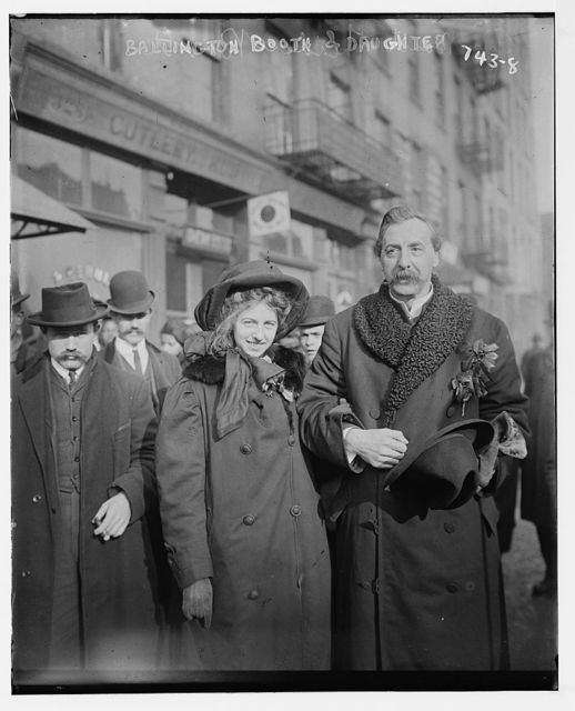 Ballington Booth and daughter, on street
