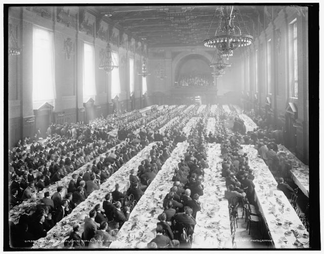 Banquet in Alumni Hall [i.e., University Commons], Yale College