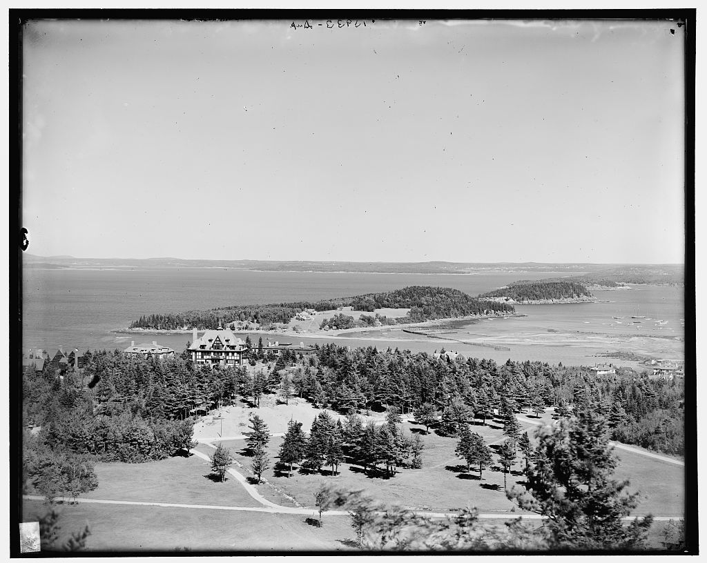 Bar Harbor from Great Hill, Mt. [i.e. Mount] Desert Island, Me.