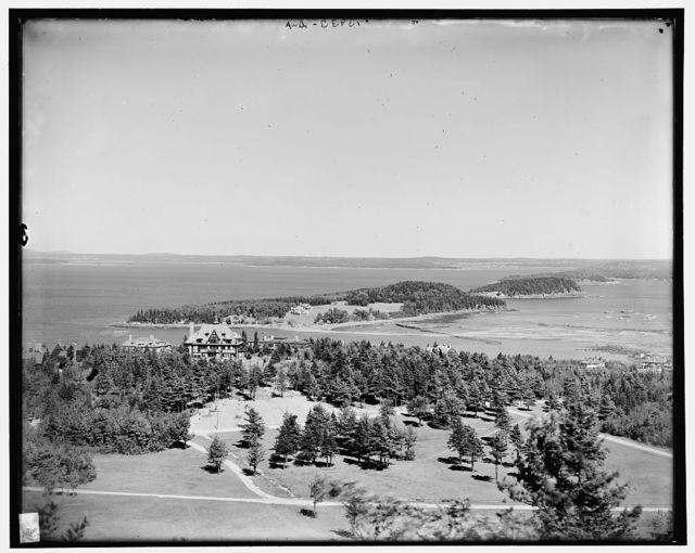 Bar Harbor from Great Hill, Mt. [i.e. Mount] Desert Island, Me.
