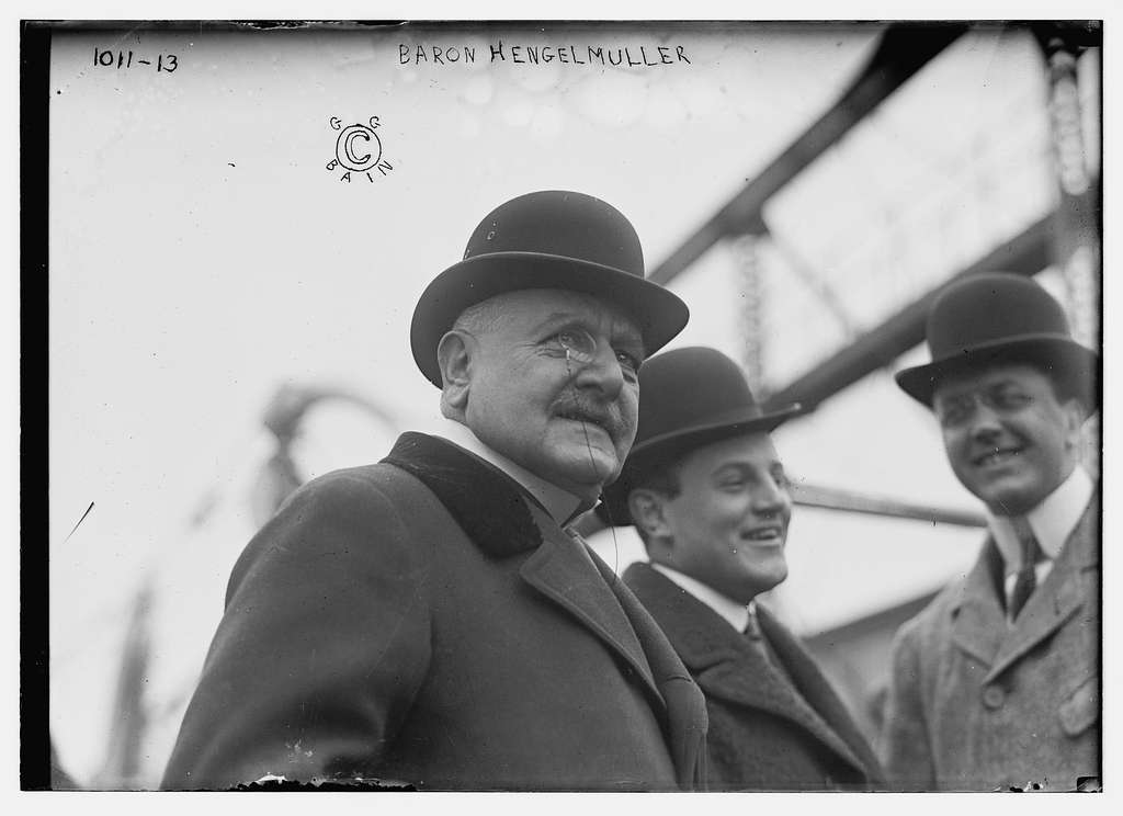 Baron Hengelmuller with others