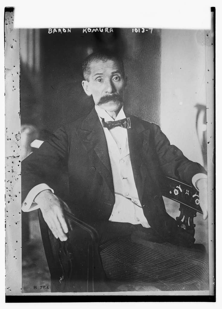 Baron Komura seated