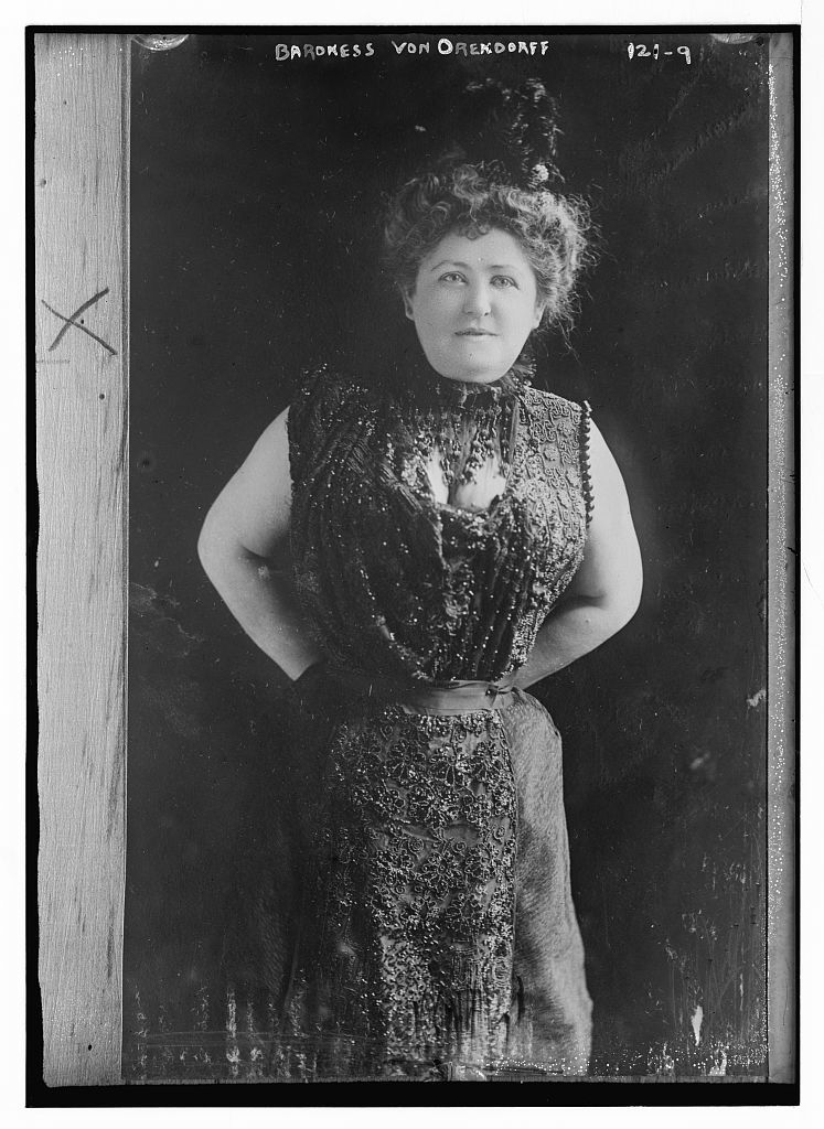 Baroness von Orendorff, standing three-quarters