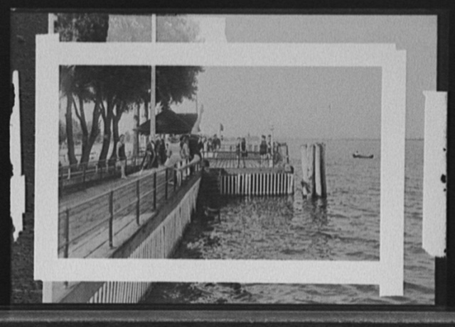 [Bathing at Old Club, St. Clair Flats, Mich.]