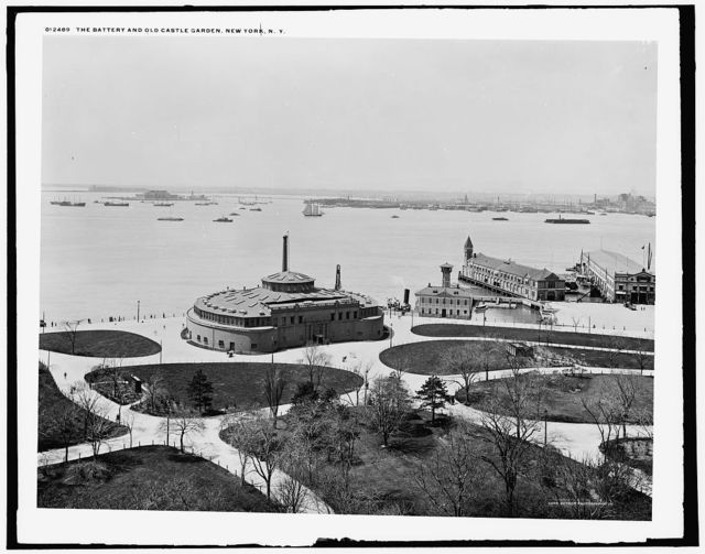 Battery and old Castle Garden, New York, N.Y.