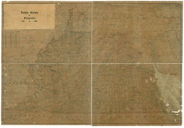 Battle fields of Virginia 1861 to 1865.