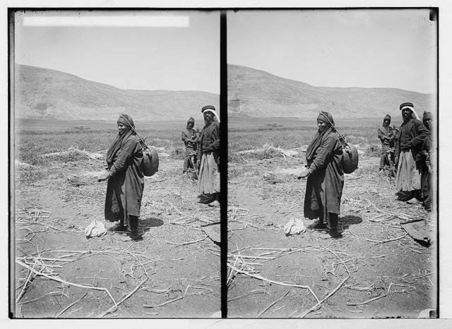Bedouin wedding series. Bedouin woman with water jar