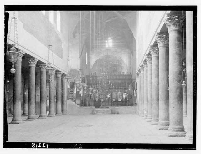 Bethlehem and surroundings. Interior of Church of the Nativity
