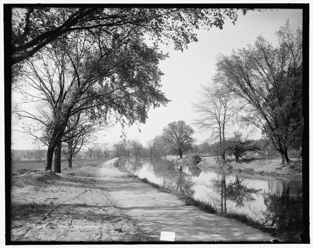 Bicycle path and canal, Indianapolis, Ind.